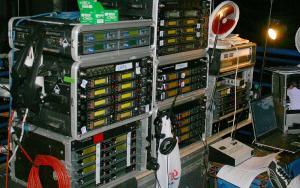 Stanowisko kontroli systemow bezprzewodowych Shure i Sennheiser - Opole 2007