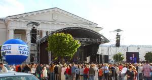 I Swiatowy Zjazd Wilniukow  2009 - próba na Palcu Ratuszowym w Wilnie