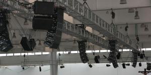 Instalacja aparatury w Hali 3A MTP Poznań