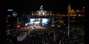 Noc Sylwestrowa na Wałach Chrobrego w Szczecinie 2009/2010
