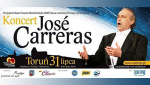 JOSE  CARRERAS    koncert w Toruniu Motoarena 2010