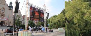 10 Koncert dla Poznania  Instalacja na Placu Mickiewicza