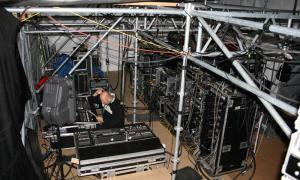 Fragment stanowiska monitorowego - Sopot Festival 2007